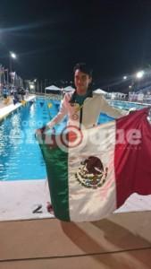 El nadador silaoense, Eduardo Rojas Newman.