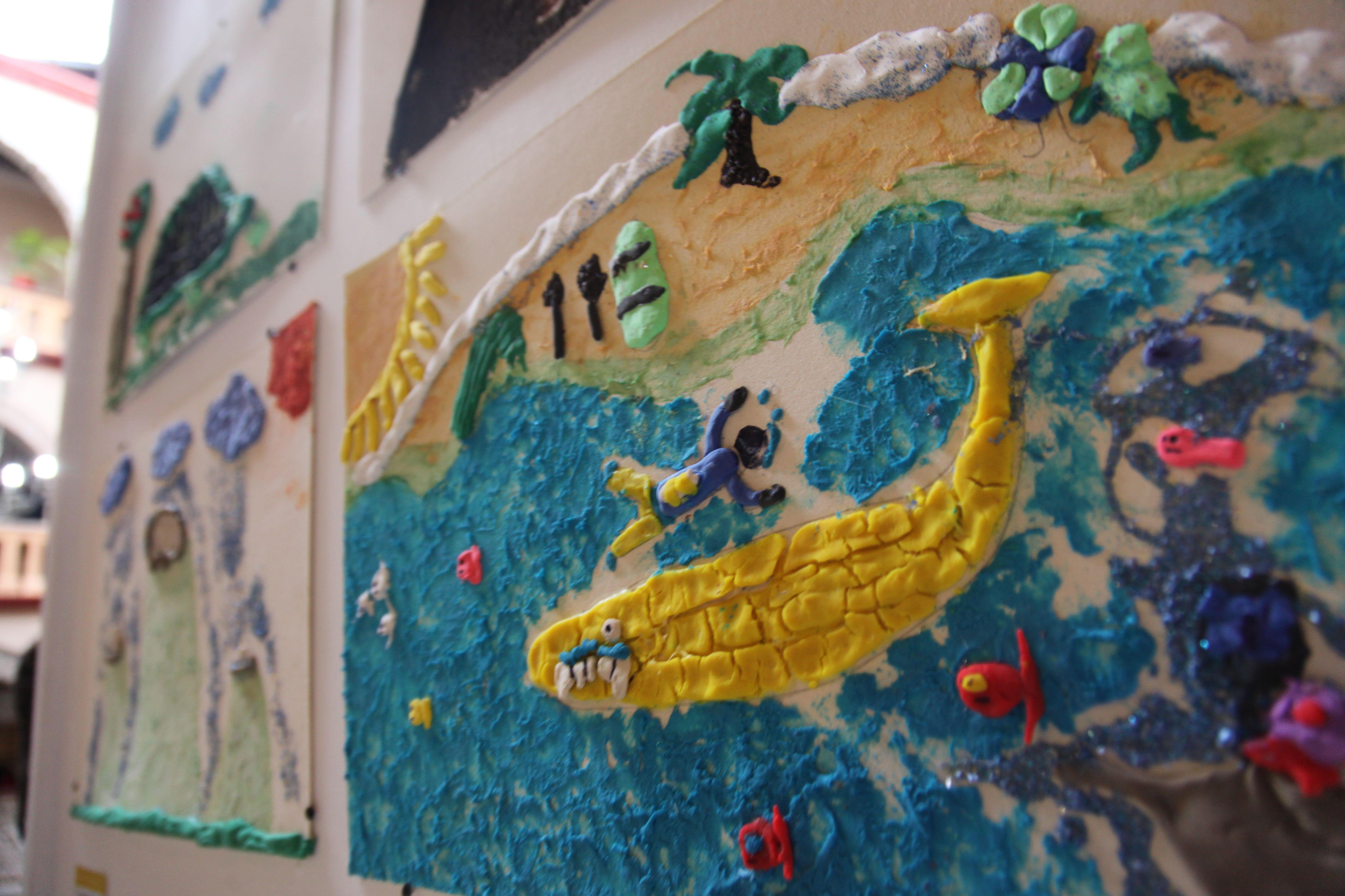 Expone Taller Infantil De Artes Pl 225 Sticas En El Mes 243 N El