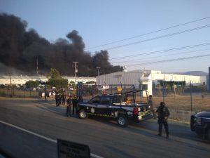 incendio fábrica Hutchinson