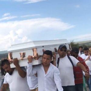 SMA Ximena cortejo fúnebre